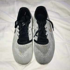 Nike running shoes, grey and black
